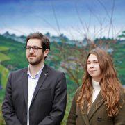"""Julien Poix et Elodie Cloez, chefs de file de """"Décidez Pour Lille""""."""