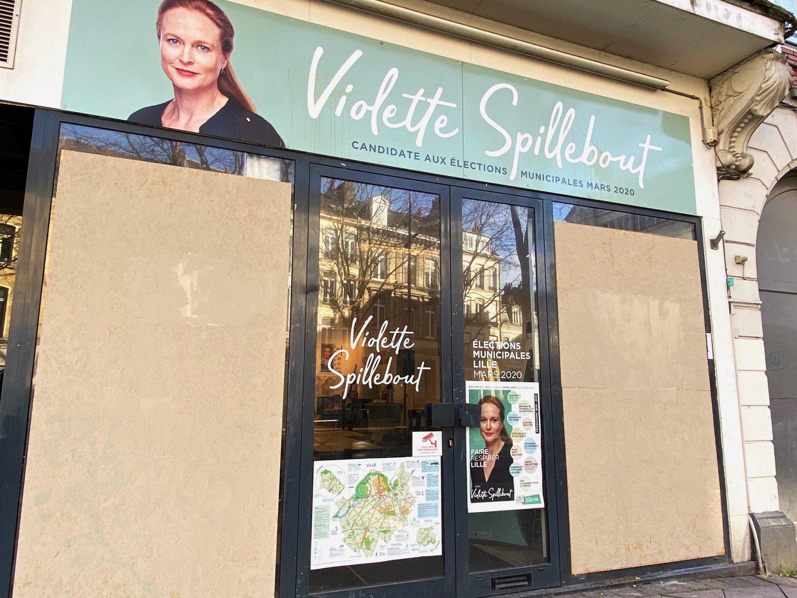 Le local de campagne de Violette Spillebout, candidate LREM à Lille