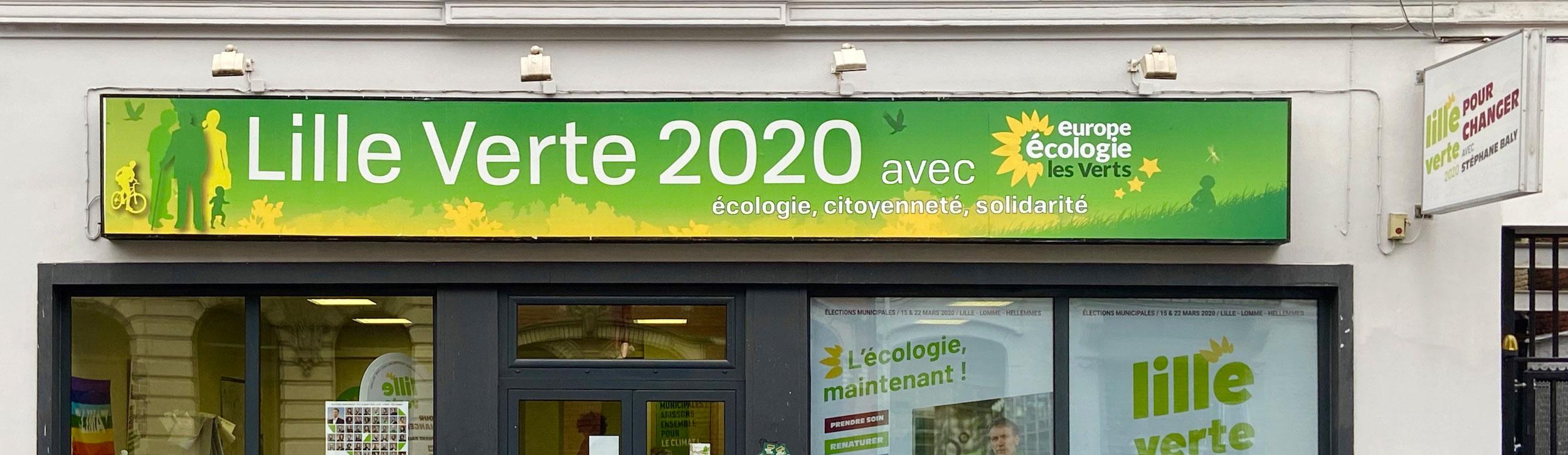 La permanence de campagne des Verts, à Lille
