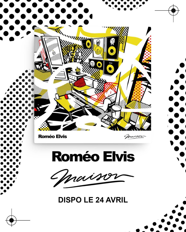 """pochette de l'EP de Roméo Elvis """"Maison"""""""