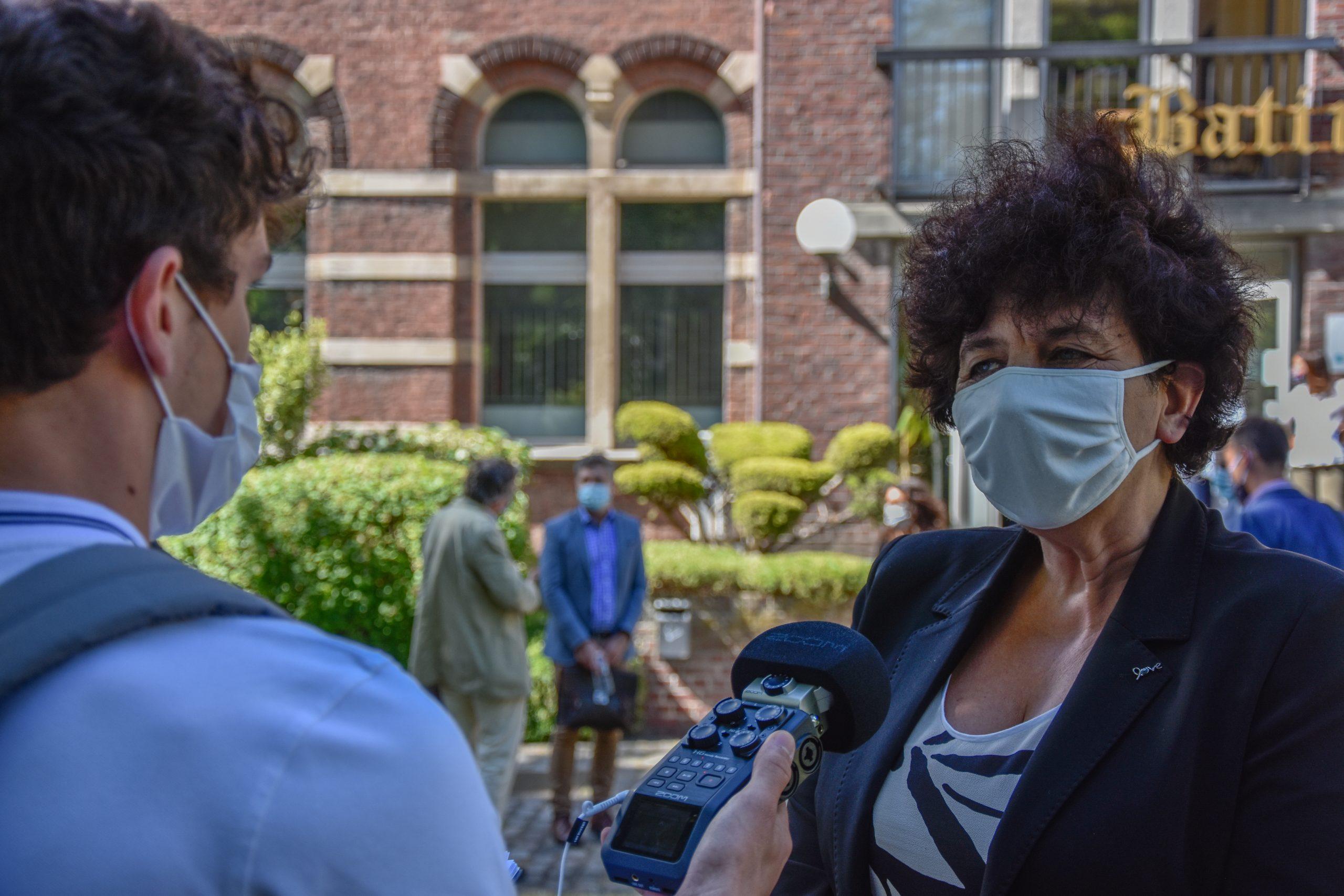 Interview de Frédérique Vidal à l'Institut Pasteur de Lille