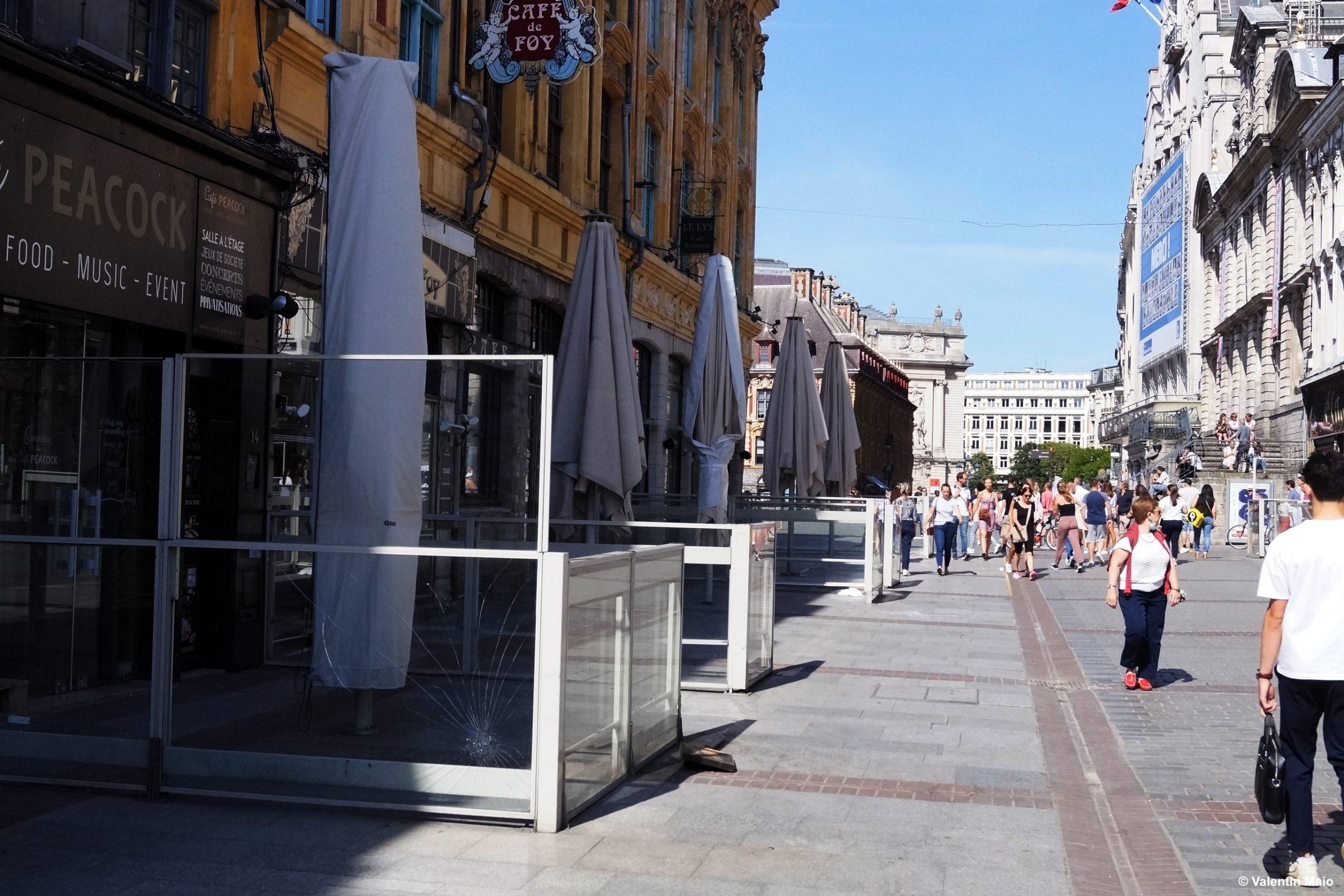 Terrasses et restaurants fermés Lille