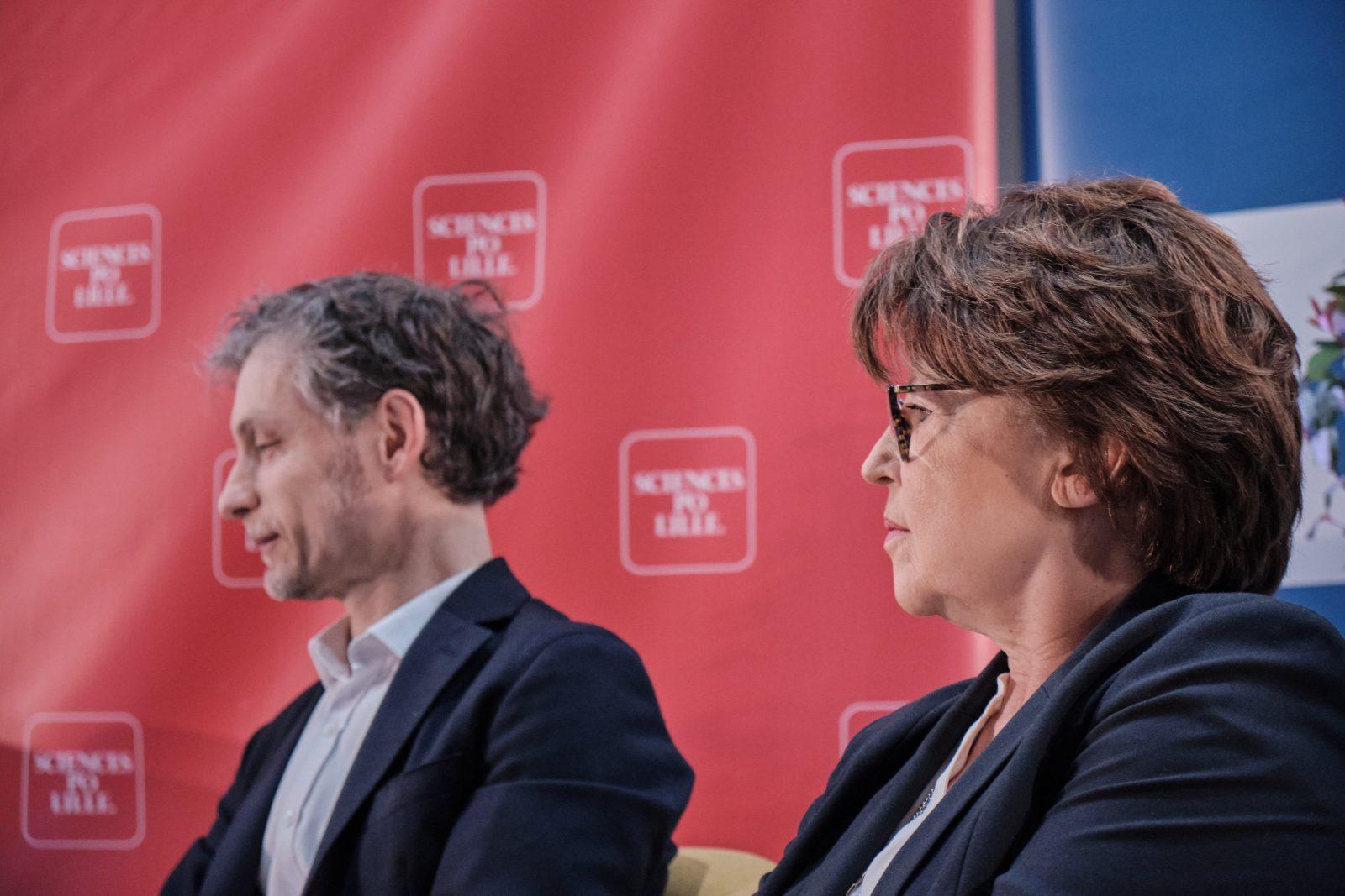 Débat des municipales 2020 à Lille, Martine Aubry et Stéphane Baly - 25/02/2020