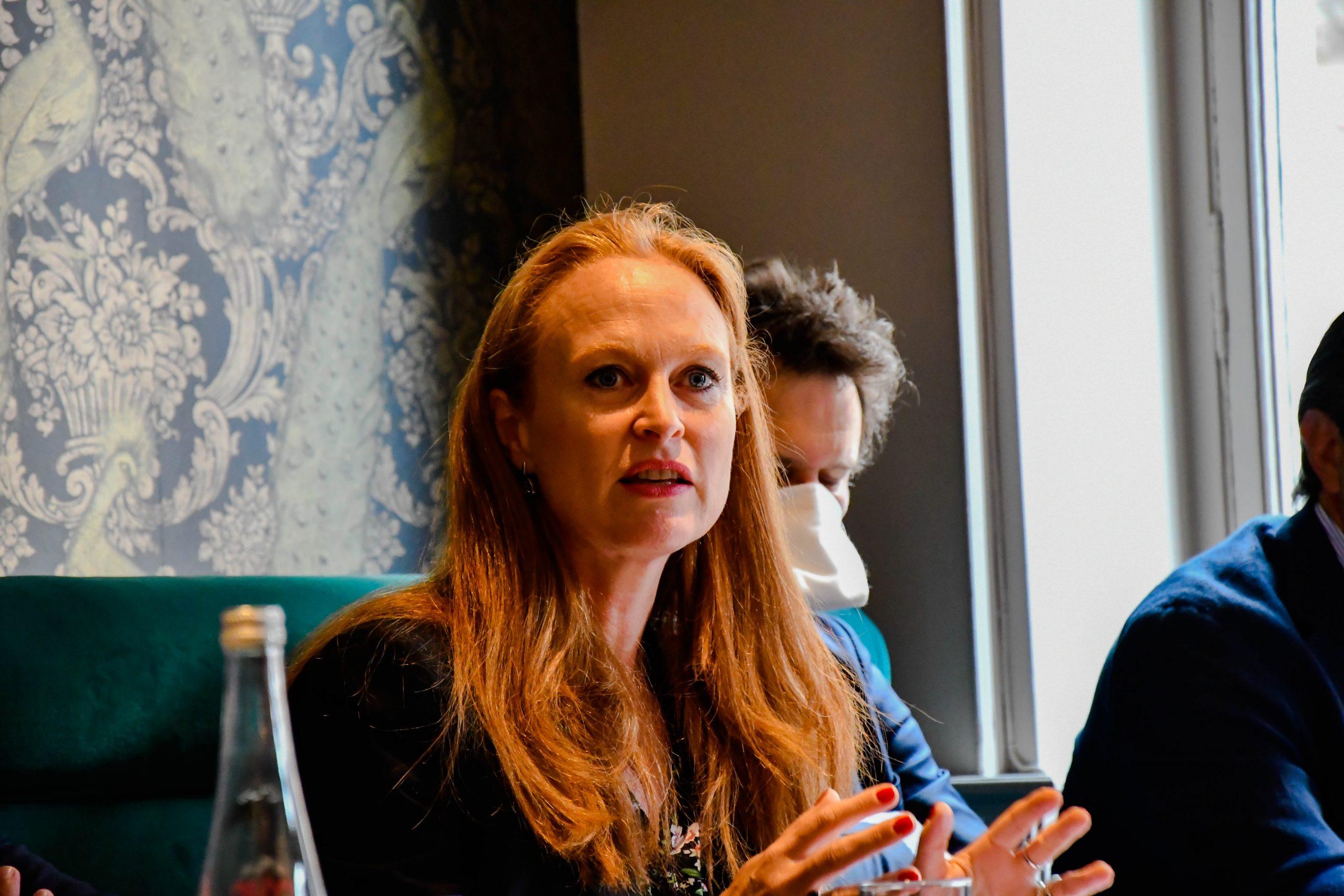 Violette Spillebout lors de la conférence de presse sur l'économie et la MEL en présence de Gérald Darmanin - ©Pierre Bourgès