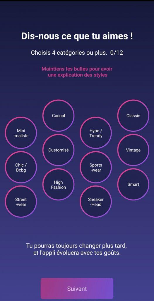 Screenshot application Plaiz