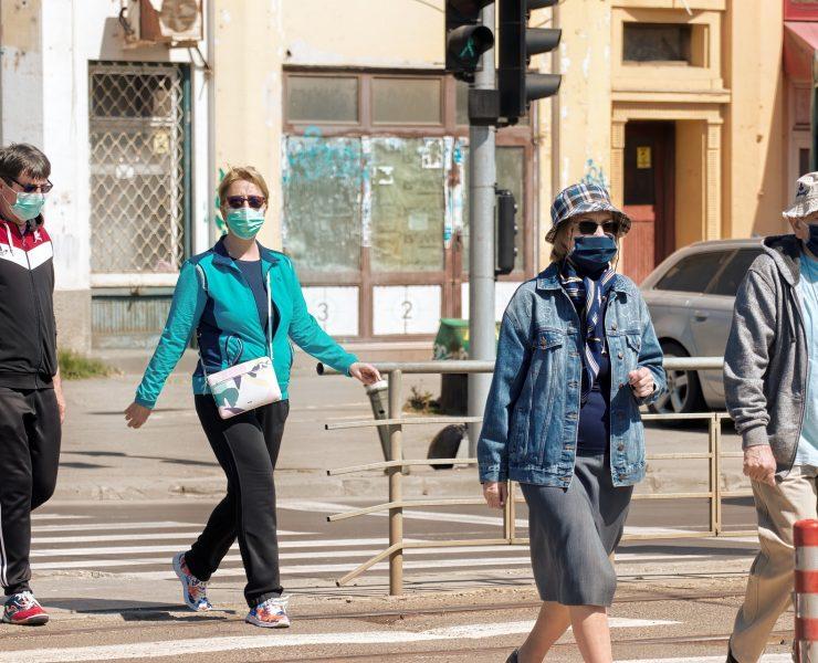 Masque Covid rue