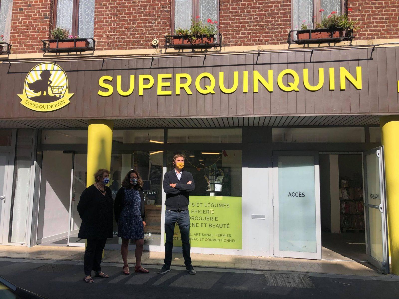 Façade du supermarché SuperQuinquin
