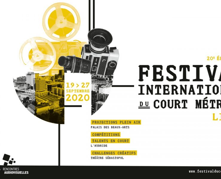 Bannière officielle de la 20eme édition du Festival International du Court Métrage de Lille
