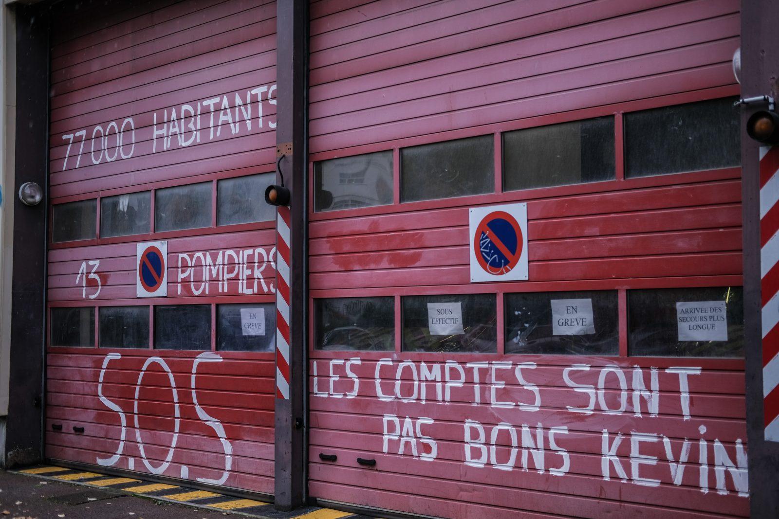 pompiers grève lille
