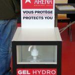 1ère étape, du gel hydroalcoolique. © Valentin Maio