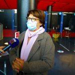 Martine Aubry, maire de Lille, est venue visiter ce nouveau centre de dépistage.