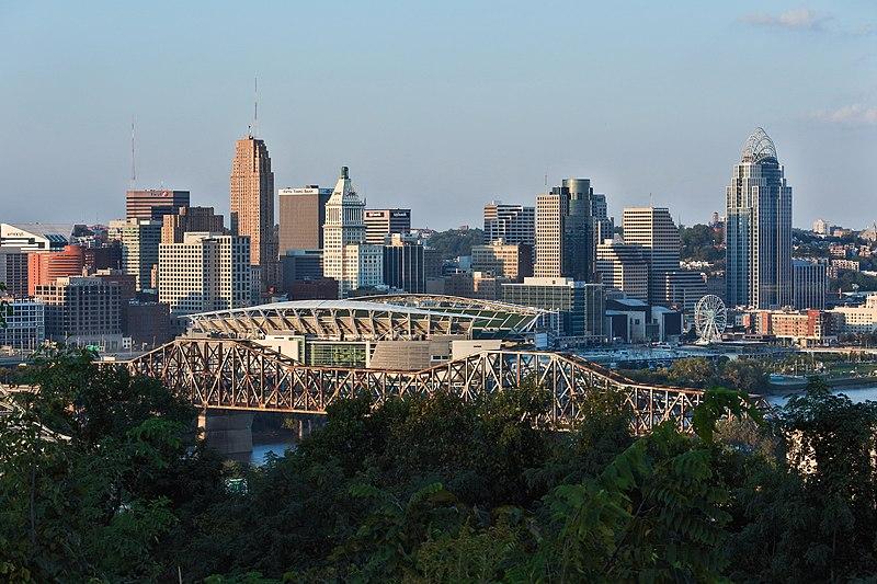 Downtown - Ohio - vue du Devou Park