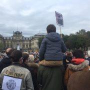 Rassemblement pour la liberté d'expression et la laïcité à Lille.