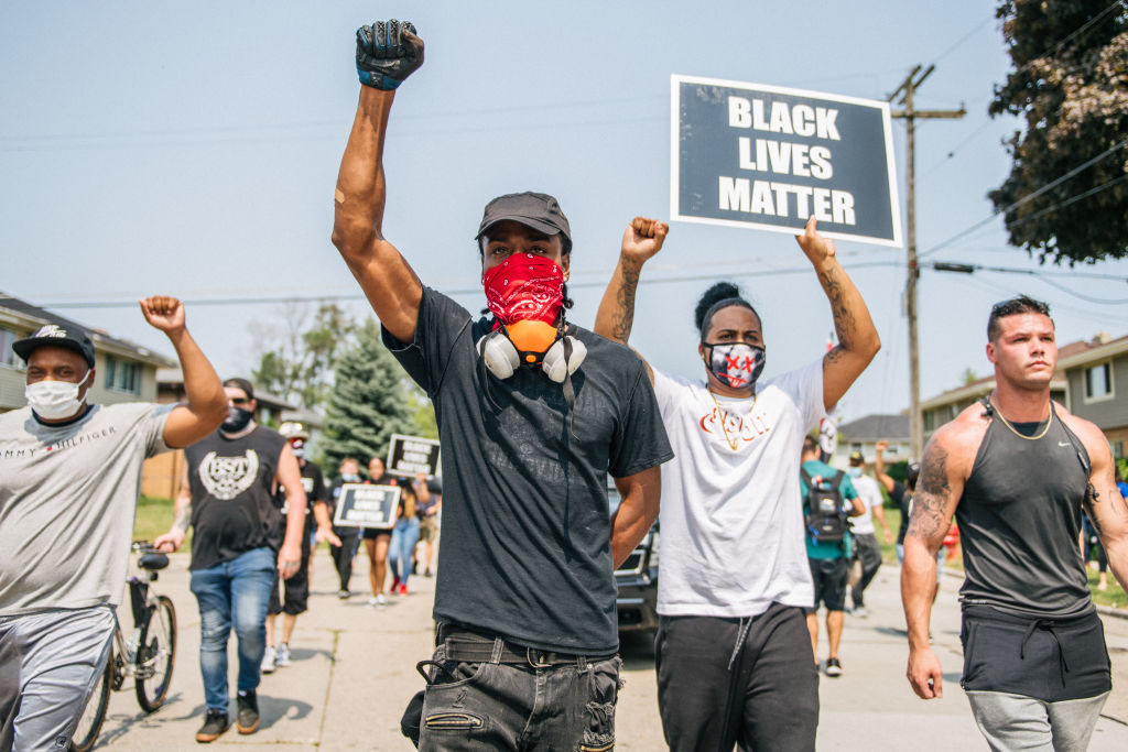 Les jeunes du Wisconsin descendent dans les rues après que la police a tiré sur Jacob Blake, un Afro-Américain en Août 2020 ©Brandon Bell