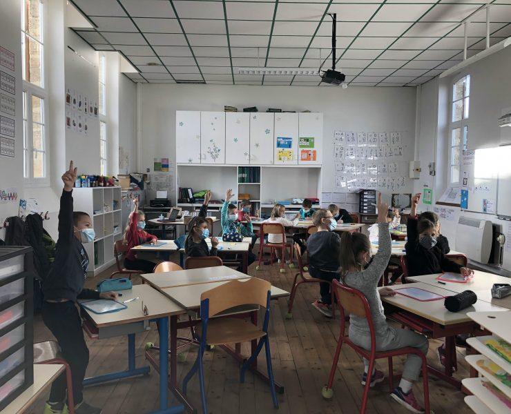 Élèves de CP/CE1 de l'école de Bourdalat