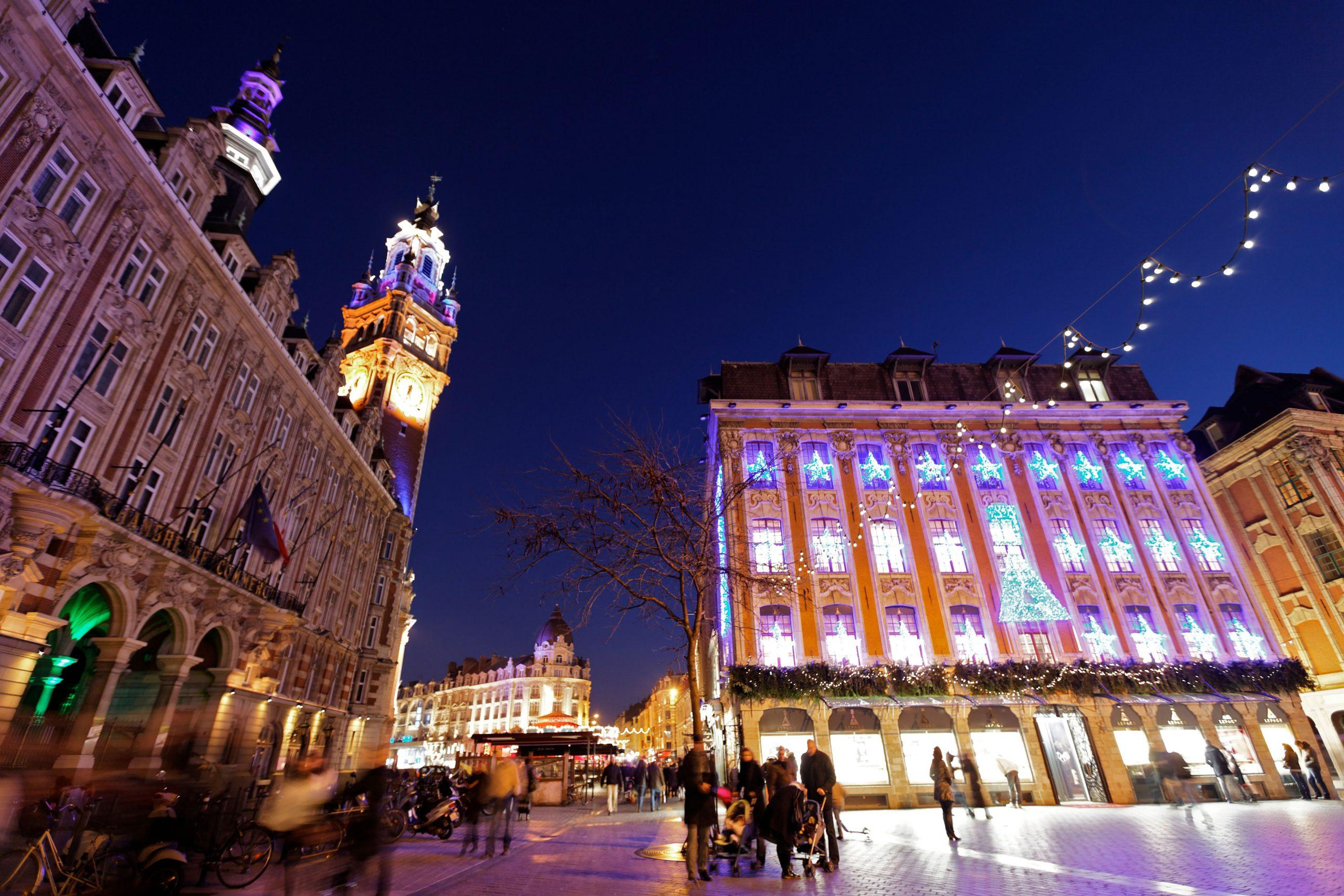 Noël, décorations, Lille