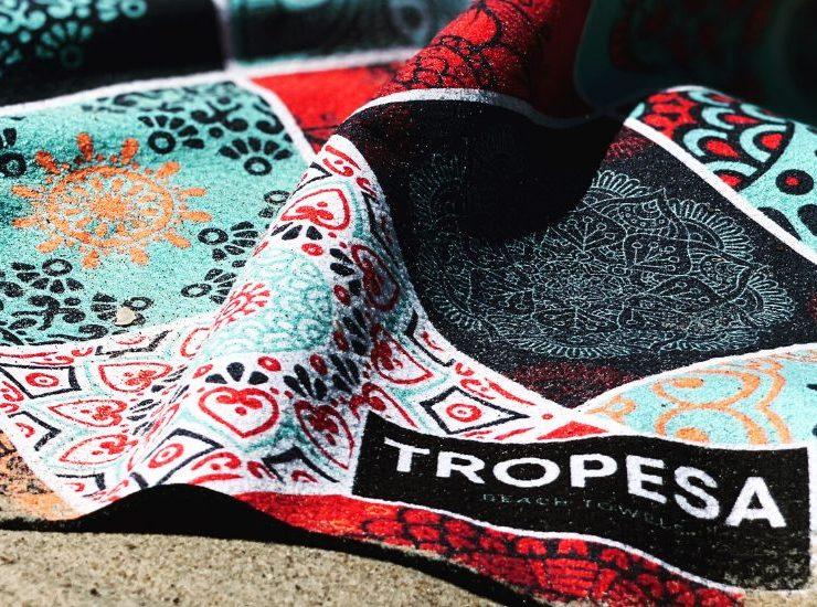 Serviettes de plage de la marque Tropesa