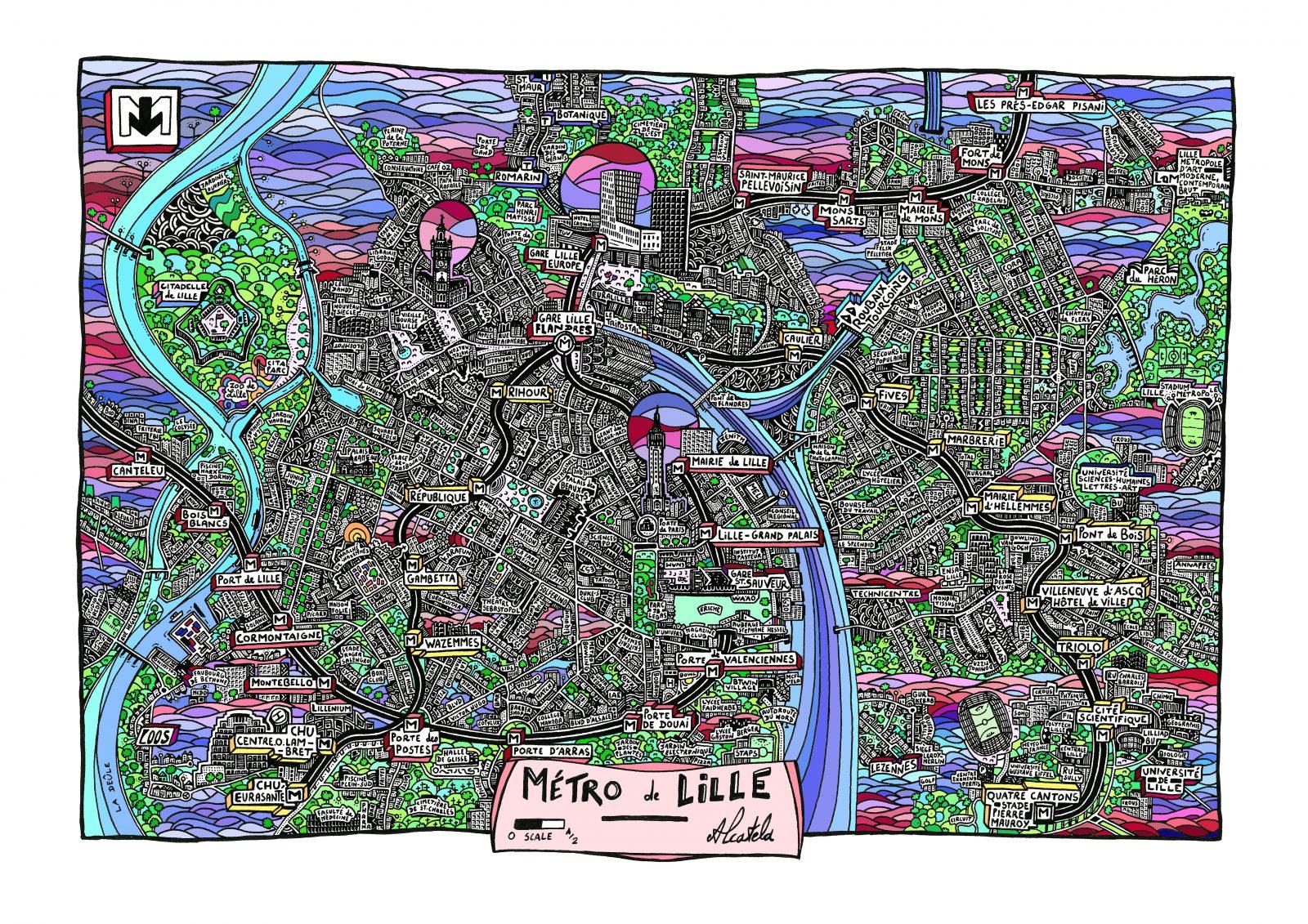 La carte de Lille par Alcatela