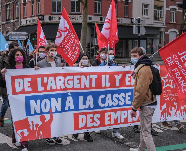 manifestation jeunes communistes