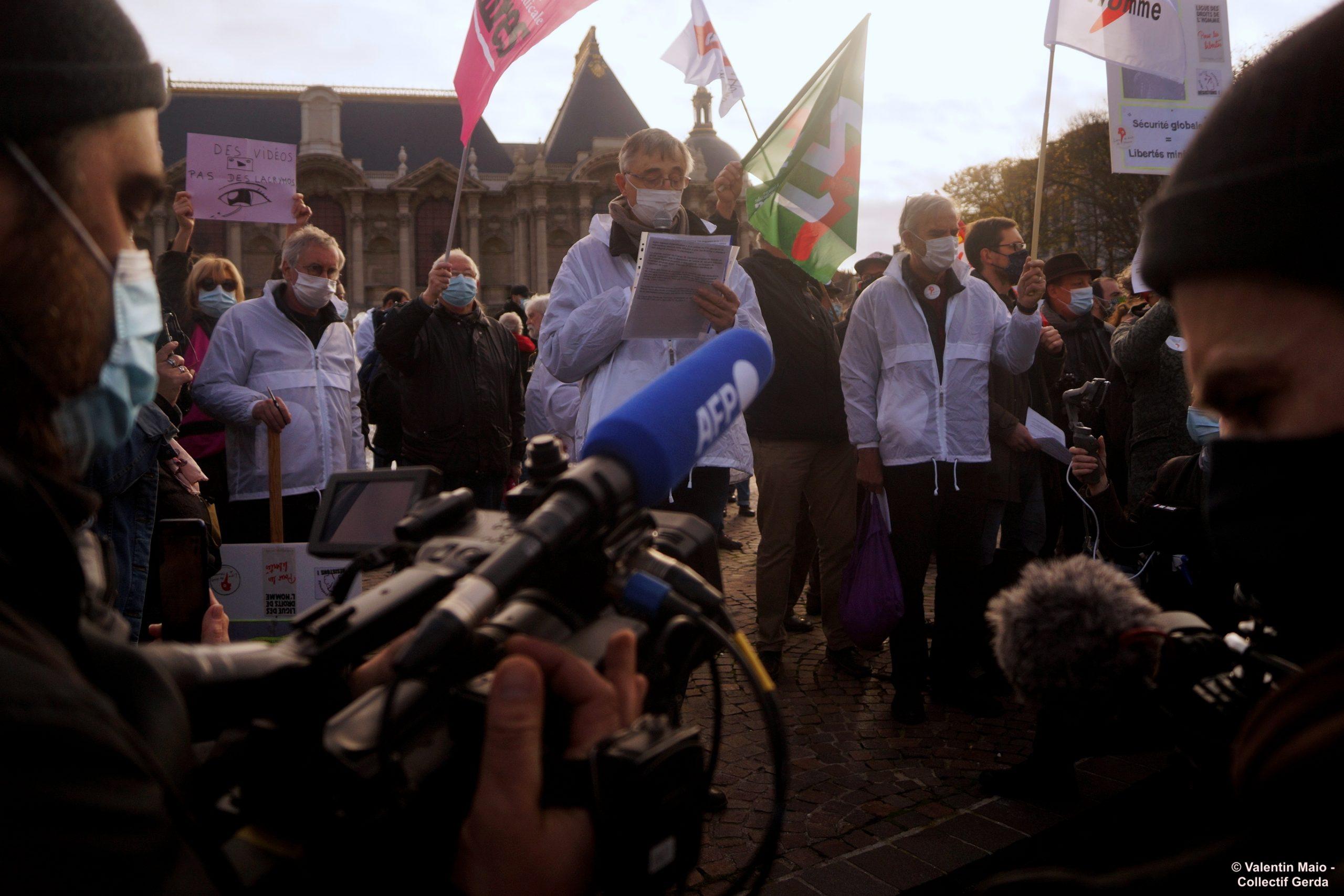 Rassemblement à Lille contre la Loi Sécurité Globale