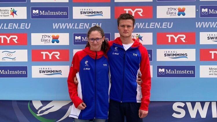 Les 2 nageurs à la Coupe d'Europe eau libre Israël