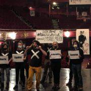 Intermittents du spectacle au théâtre Sébastopol ©Nephtys Bodet/Pépère News
