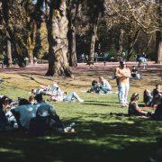 jardin vauban, grosses chaleurs à lille 31mars 2021