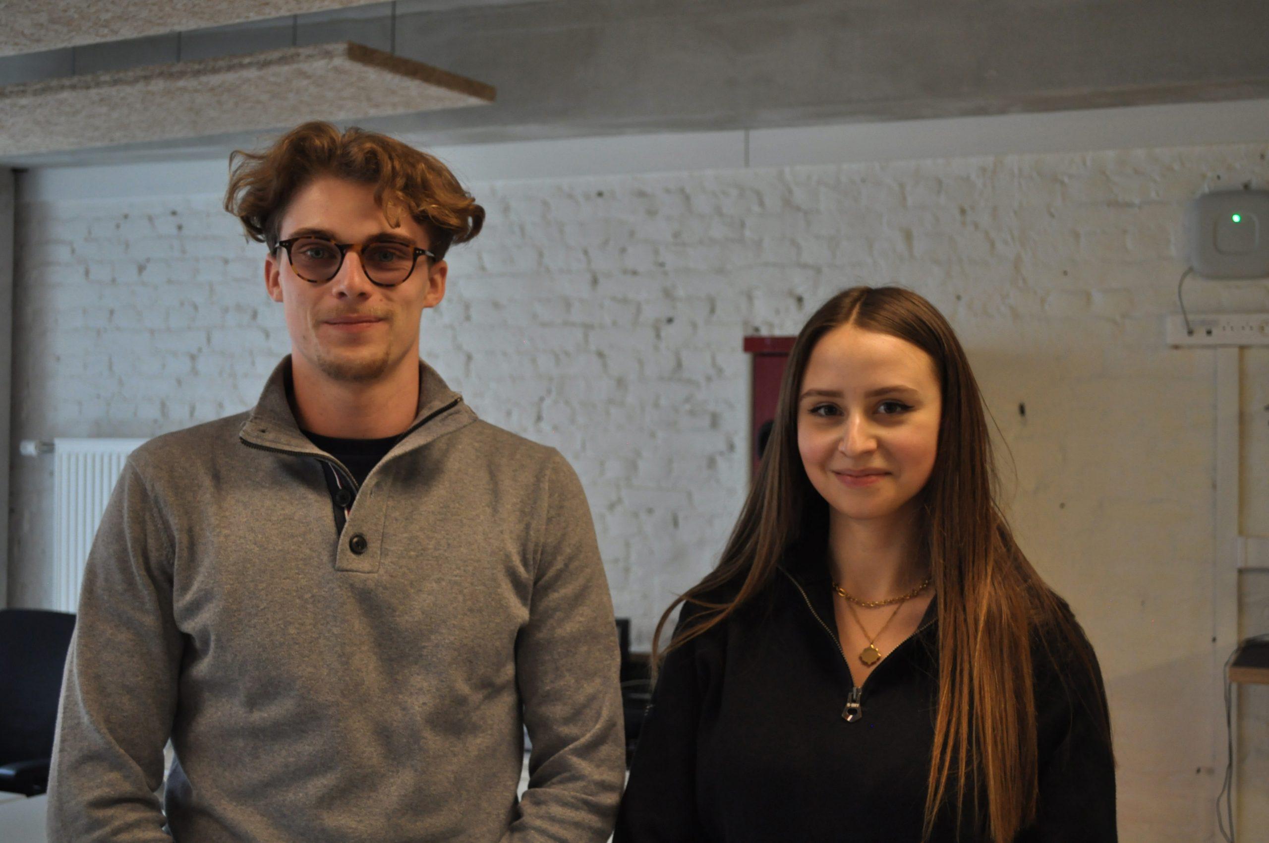 Baptiste et Anna, associés de la start-up Olivia