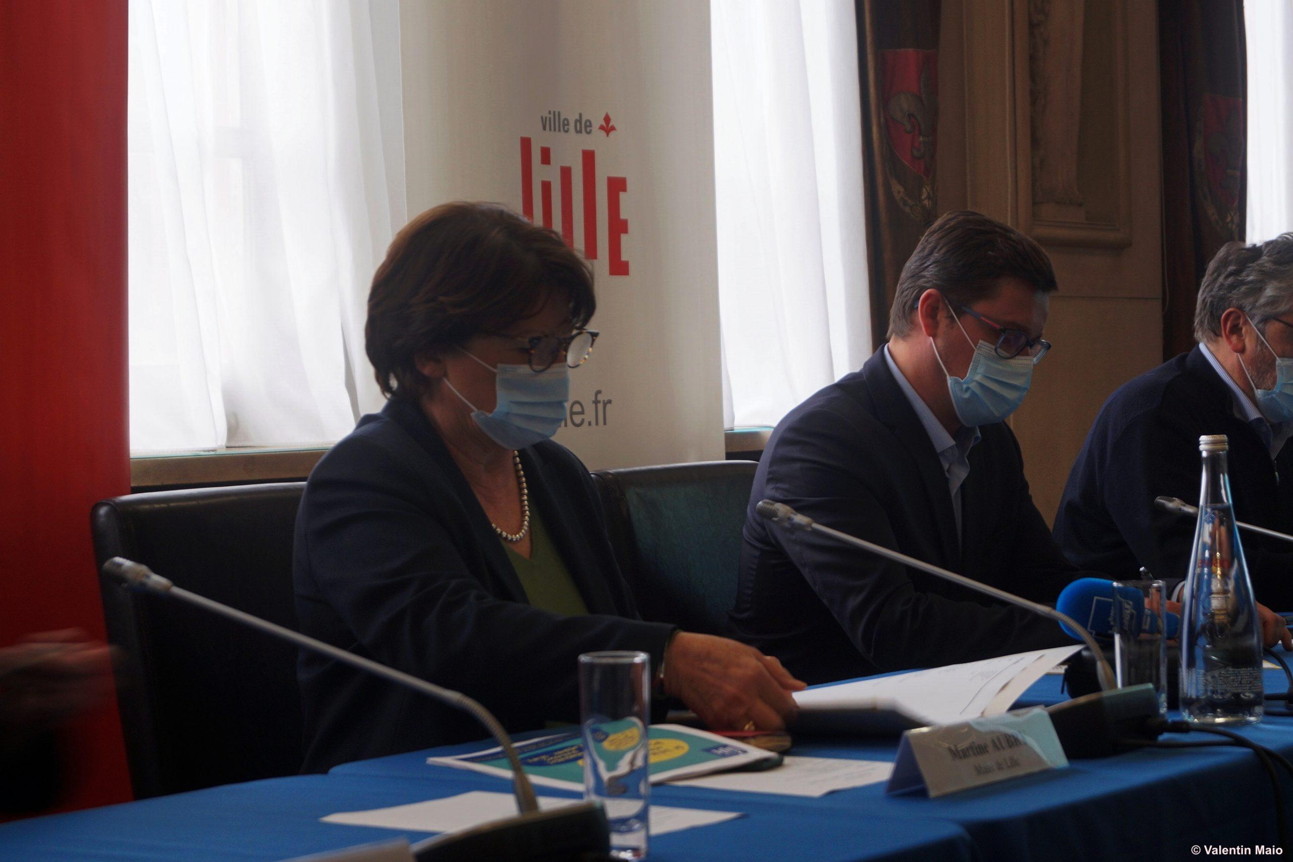 Martine Aubry dévoile les protocoles de réouvertures. © Valentin Maio / Pépère News
