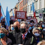 jean-luc mélanchon, cortège de la gauche, journée internationale des travailleurs