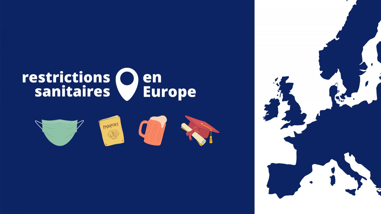 Carte des restrictions sanitaires en Europe