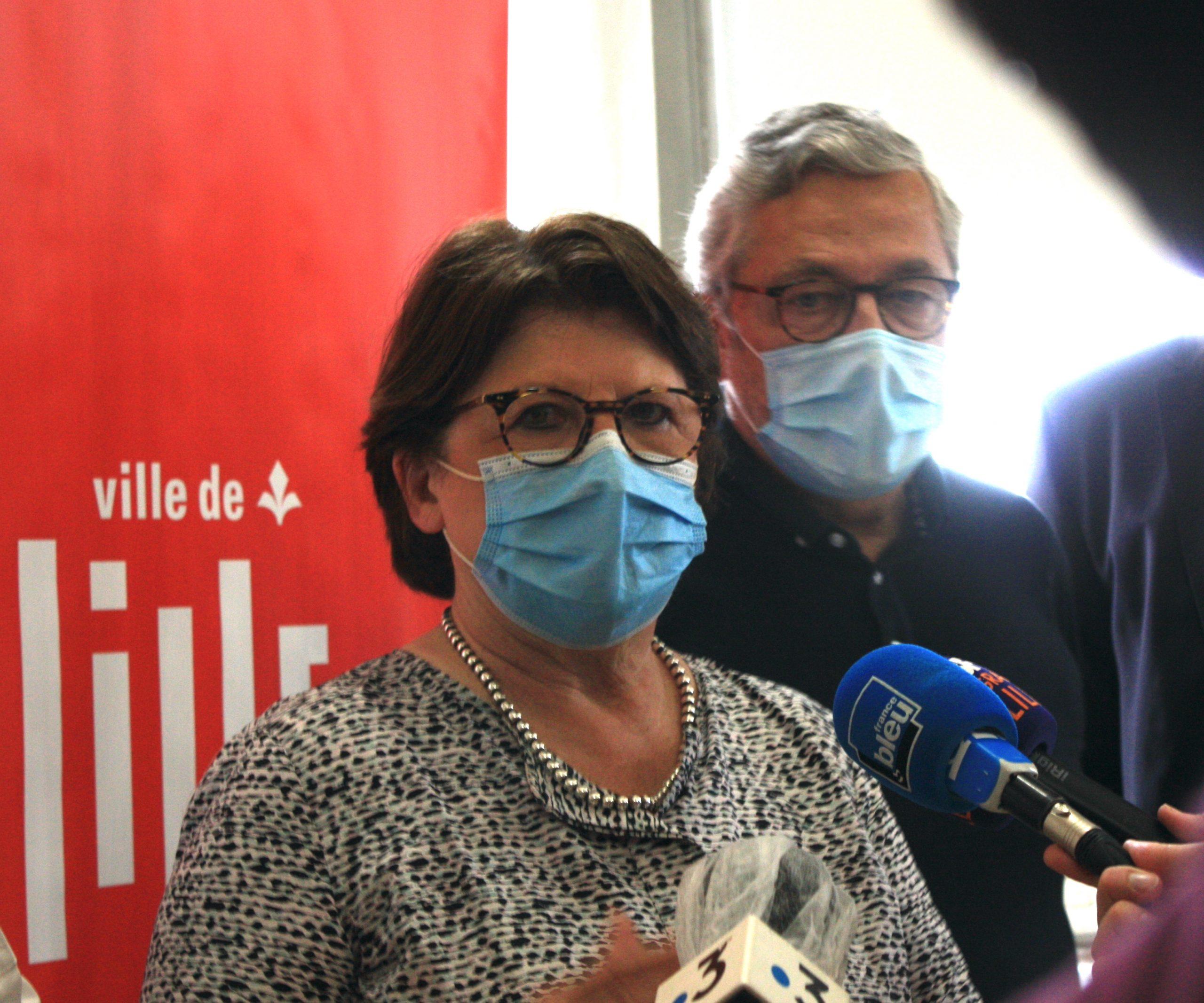 Martine Aubry le 16/06 à Lille ©Alicia Gourlan / pépère news